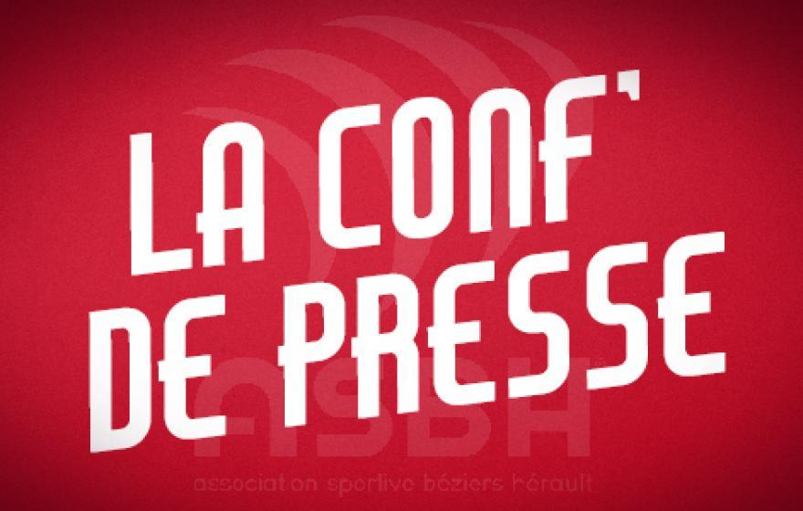 Béziers - Valence : la conférence de presse