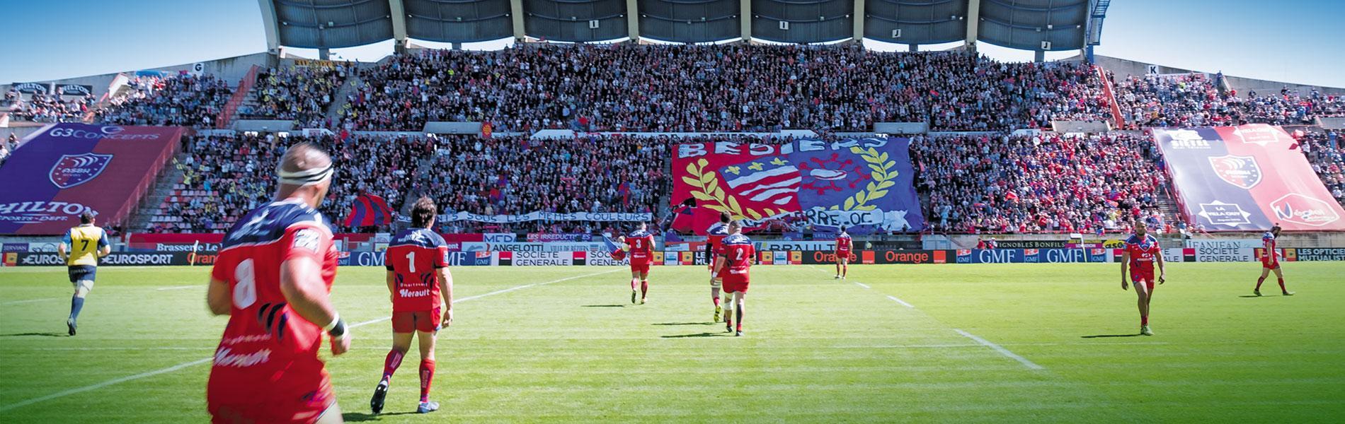 Image Bienvenue sur le site de l'AS Béziers Hérault, club de rugby professionnel évoluant en ProD2