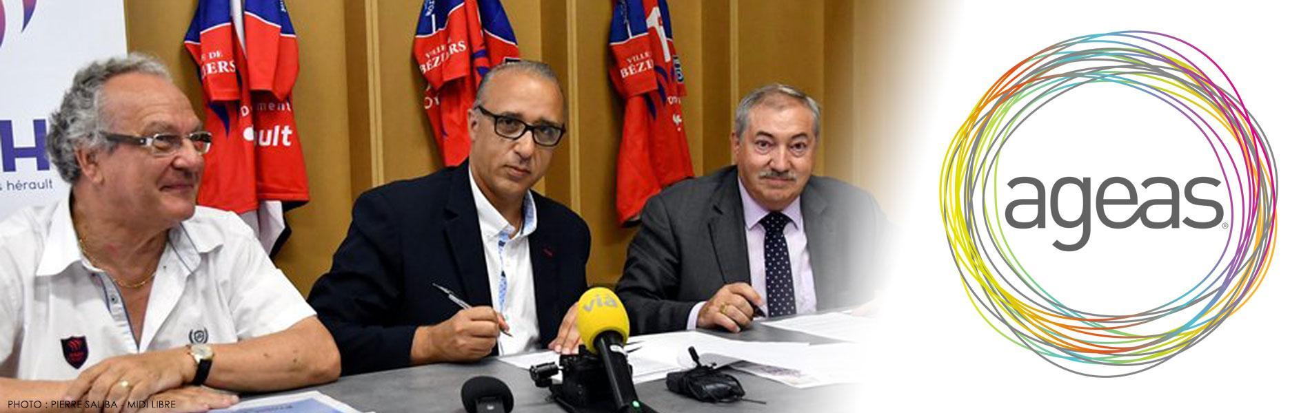 Image Ageas France, nouveau partenaire officiel de l'AS Béziers Hérault