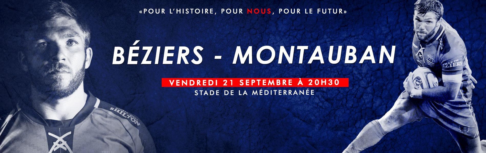 Image Béziers - Montauban, cinquième journée du championnat de Pro D2