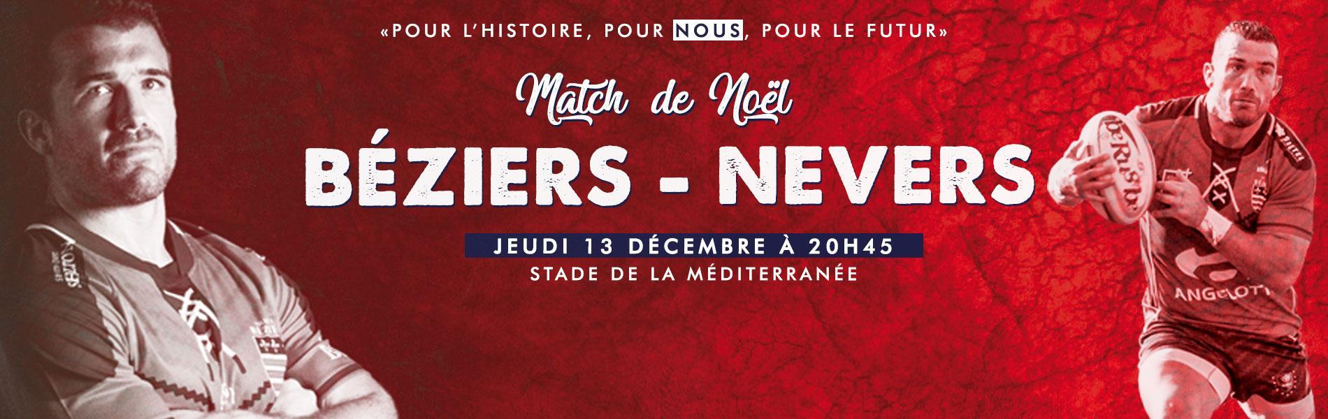 Image Béziers - Nevers | 15e journée de Rugby Pro D2