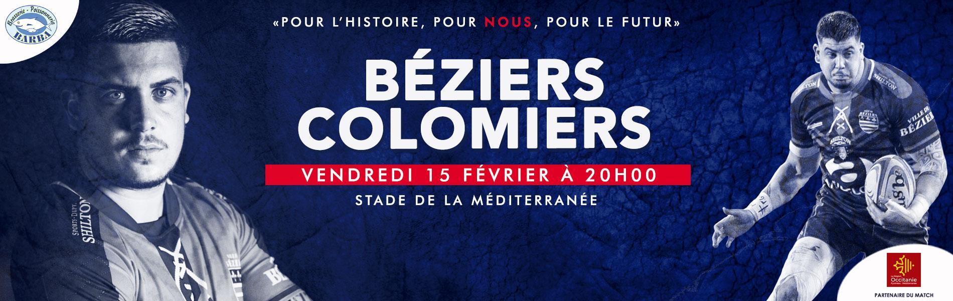 Image Prochain match à domicile : Béziers - Colomiers
