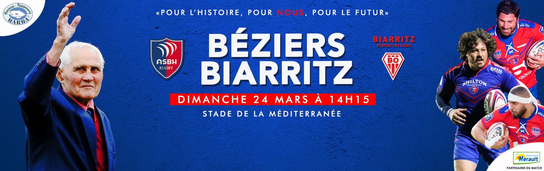 Image Prochain match à domicile : Béziers - Biarritz en honneur à Raoul Barrière