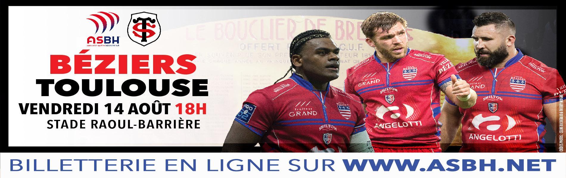 Image Béziers - Stade Toulousain : billetterie en ligne dès le lundi 3 août