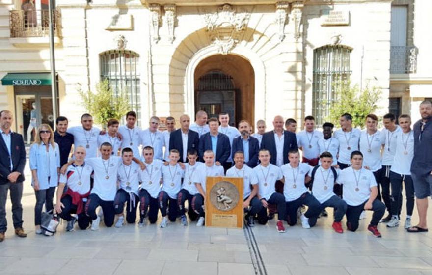 Les Cadets B honorés par la Ville de Béziers