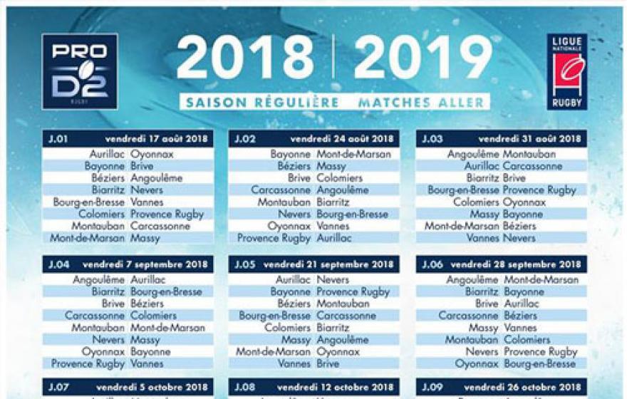 Le calendrier des oppositions 2018/2019 enfin dévoilé