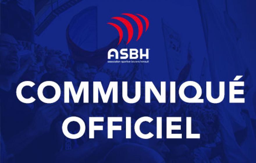 Communiqué officiel | Béziers - Aurillac au Parc des Sports et de l'Amitié