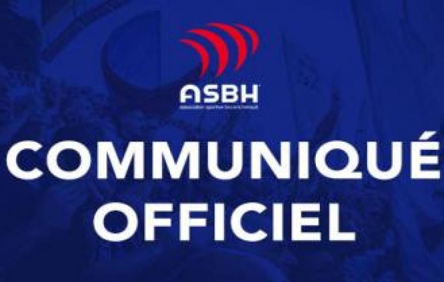 Communiqué officiel |L'ASBH sanctionnée durement et injustement