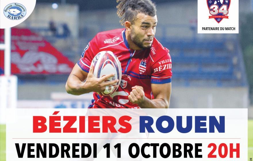 Béziers / Rouen : les infos pratiques