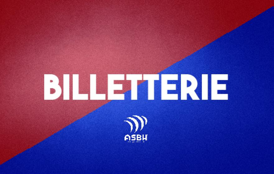 ASBH - FCG : Billetterie en ligne, tarif unique 10€