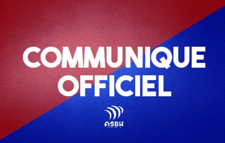 Communiqué officiel : réception d'Oyonnax