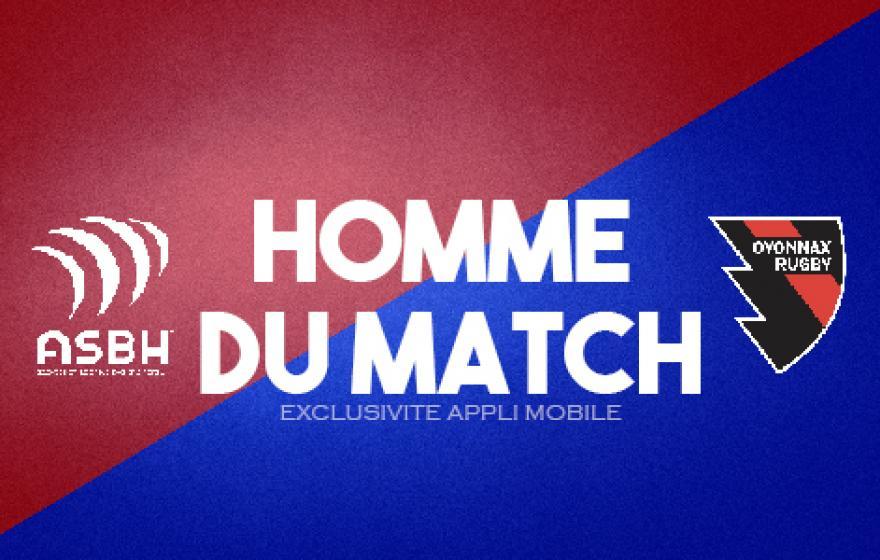 Béziers - Oyonnax : l'homme du match